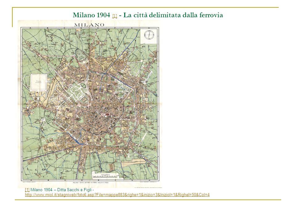 Milano 1904 [1] - La città delimitata dalla ferrovia